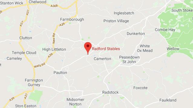 Radford Portable Stabling Map